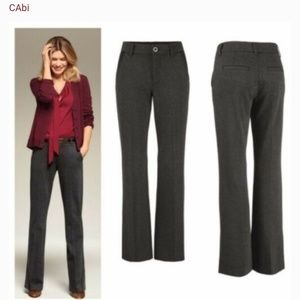CAbi Womens Size 2 Charcoal Gray Promotion Trouser